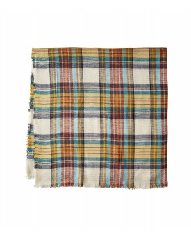 Steve Madden Classic Plaid Square Scarf