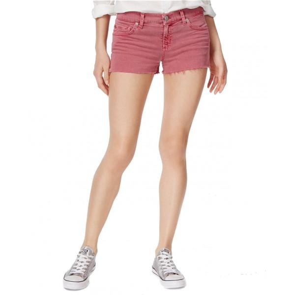 Kenzie Cotton Frayed Denim Shorts