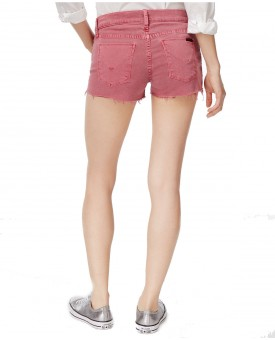 Kenzie Cotton Frayed Denim Shorts