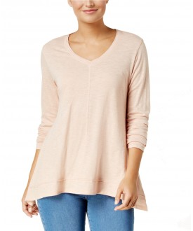 Style & Co V-Neck Swing Top