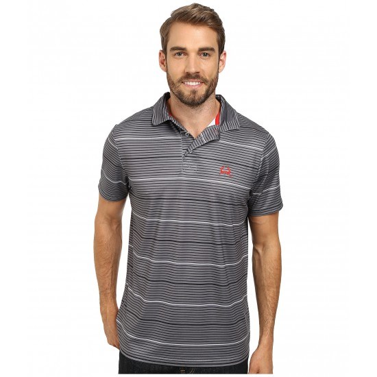 Cinch Athletic Poly Spandex Tech Polo Striped