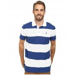 Nautica Short Sleeve Bold Stripe Polo