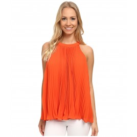 Pleated Halter Blouse